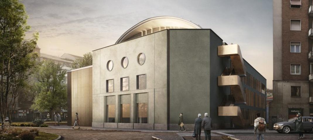 Remodelan el viejo cine Maestoso que fue uno de los cines más bonitos y cómodos de Milán. 1